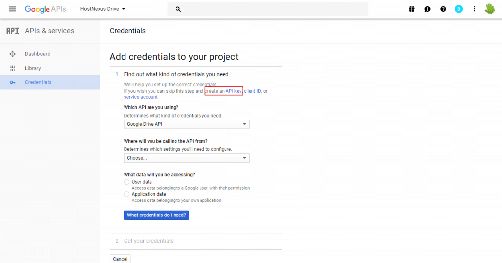 create-google-api-key