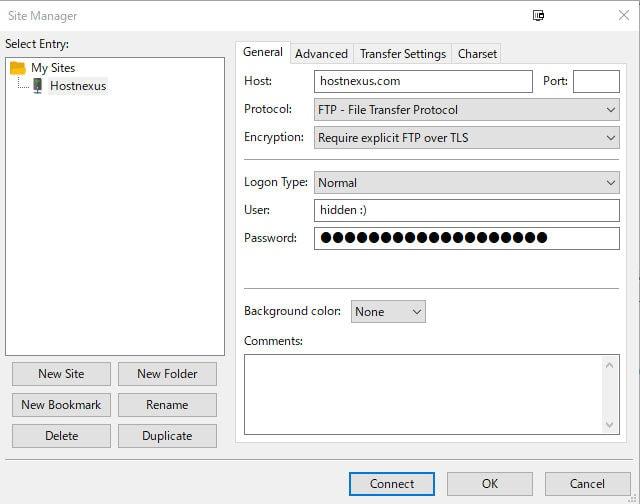 Secure FTP - FileZilla