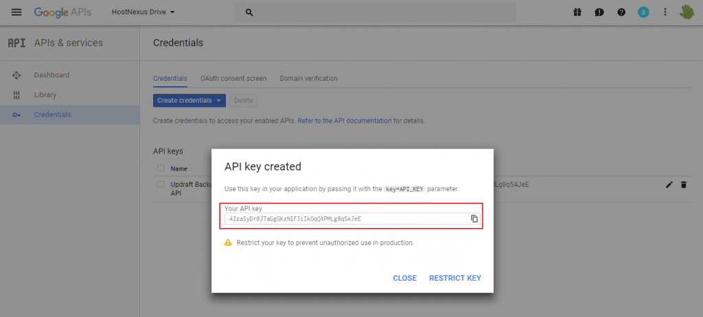 google-api-key-created