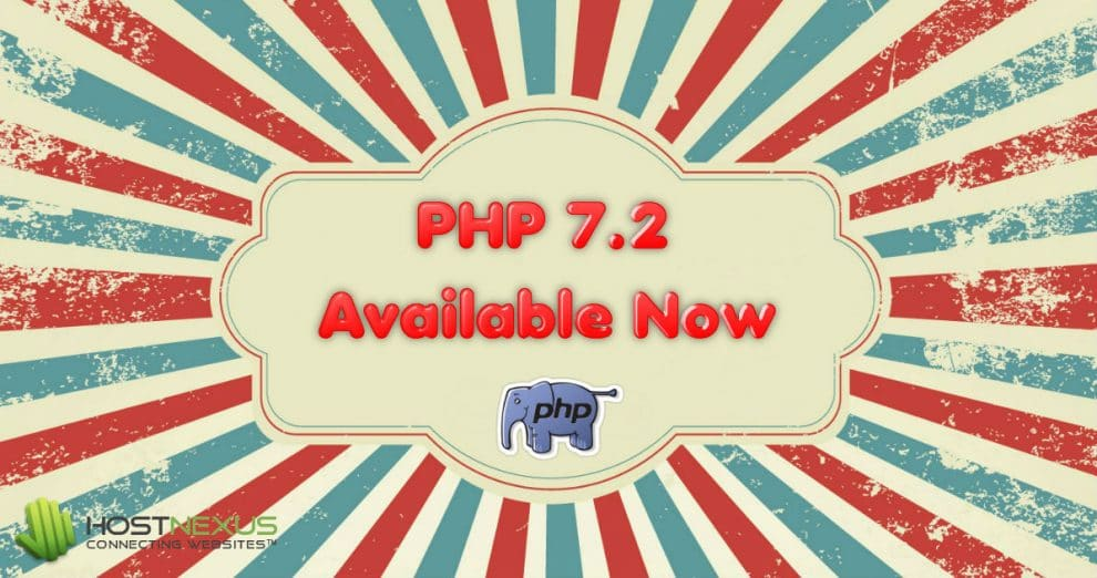 PHP 7.2 Available at HostNexus