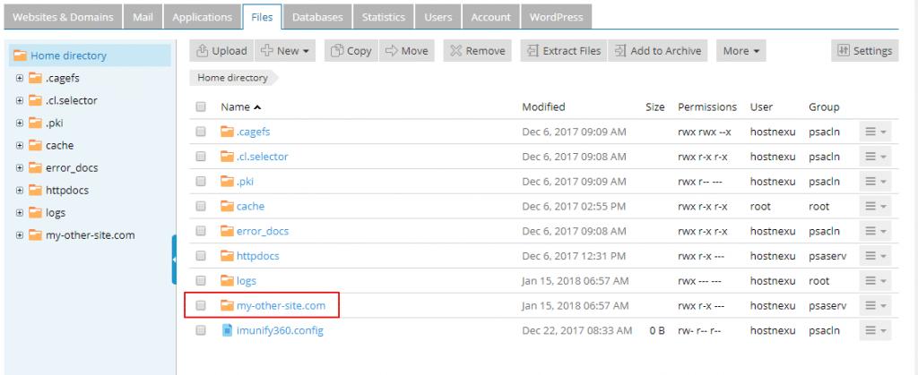 Addon Domain File Structure