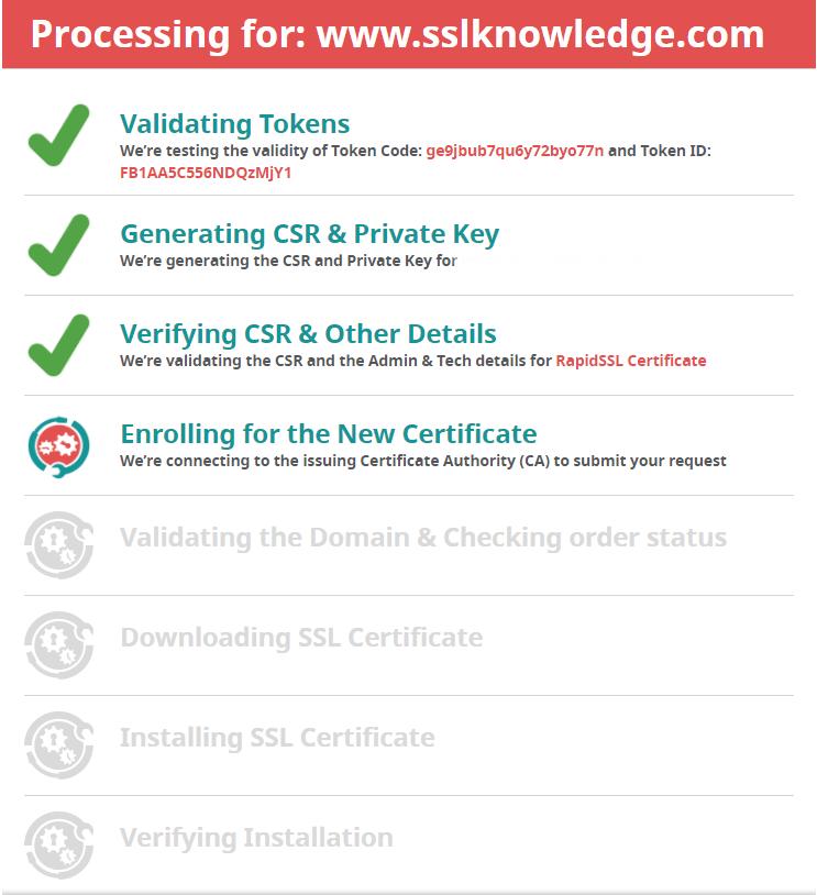 AutoInstallSSL Enrolment