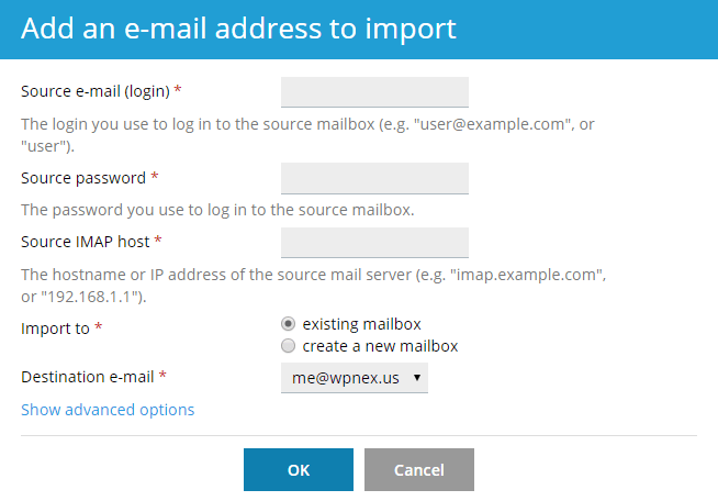 Mail Importing