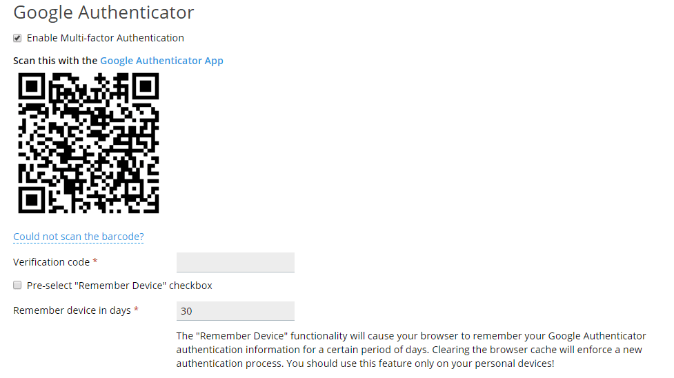 Plesk Google Authenticator