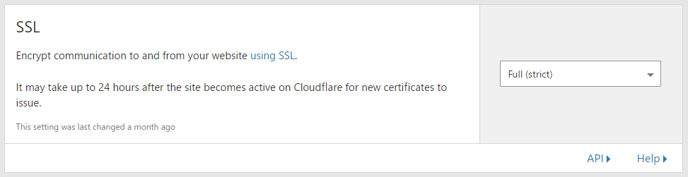 Cloudflare SSL Full (Strict)
