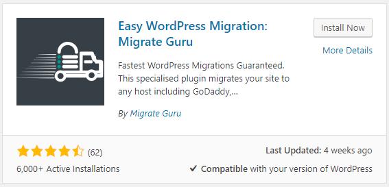 Install Migrate Guru