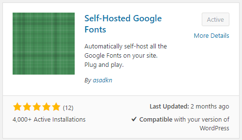 Self Hosted Google Fonts