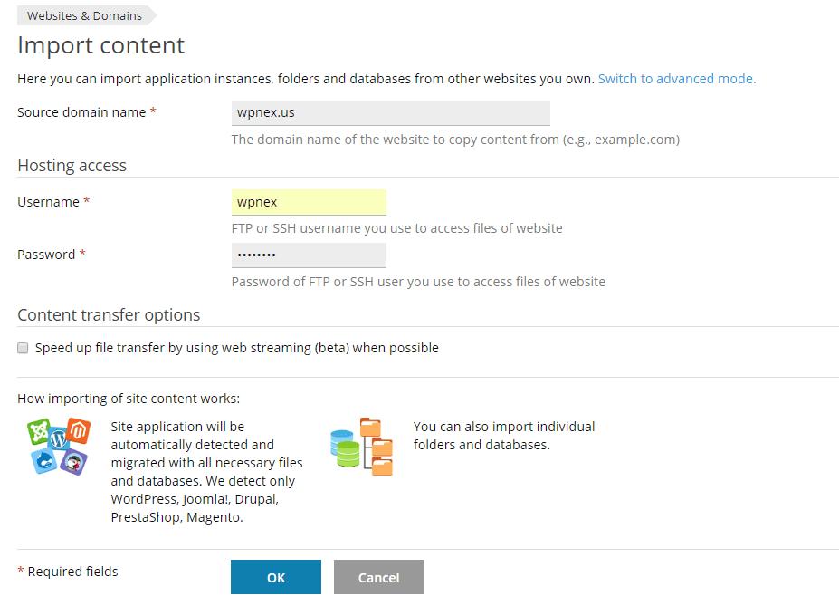 Website Importer